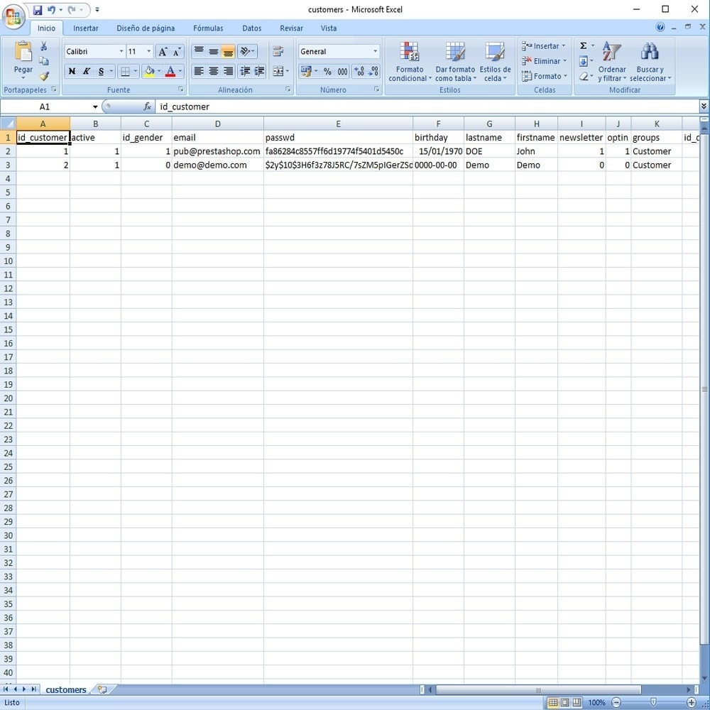 module - Marques & Fabricants - CSV Export Data Fields - 17