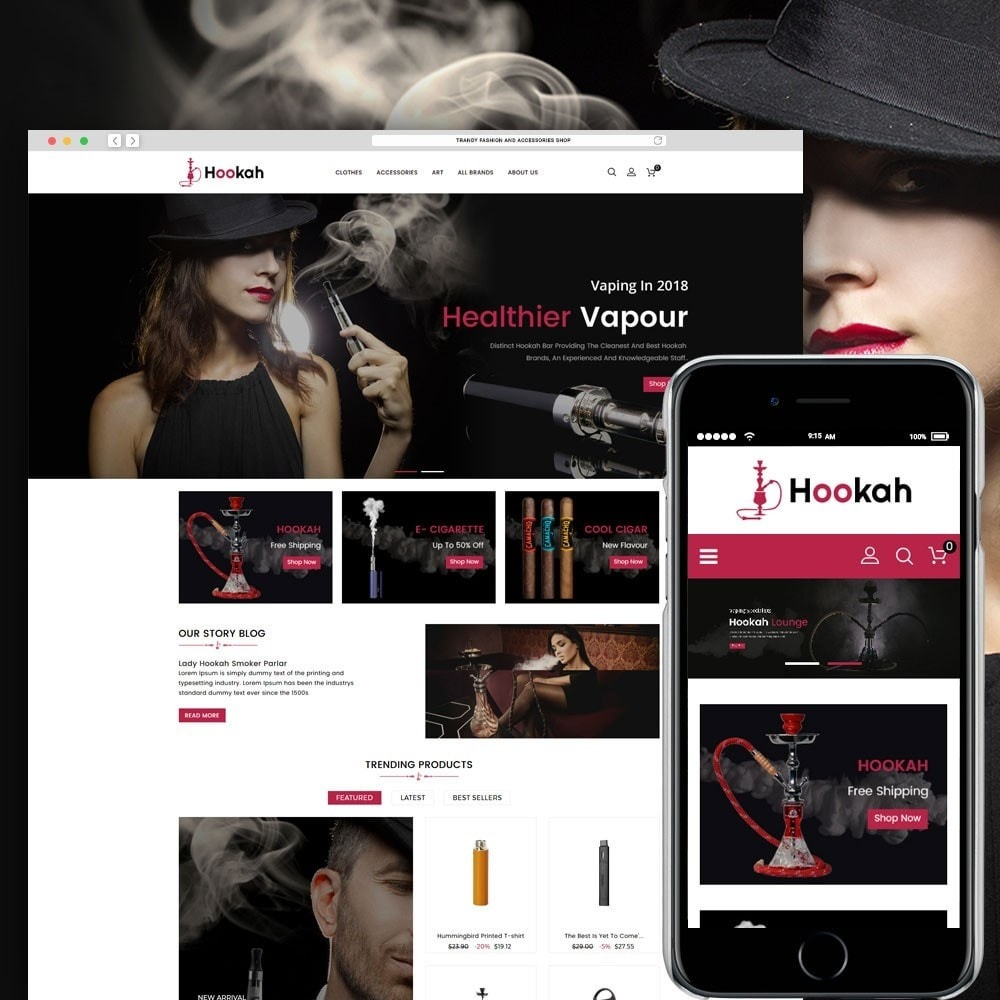 theme - Boissons & Tabac - Hookah and Cigar Shop - 1