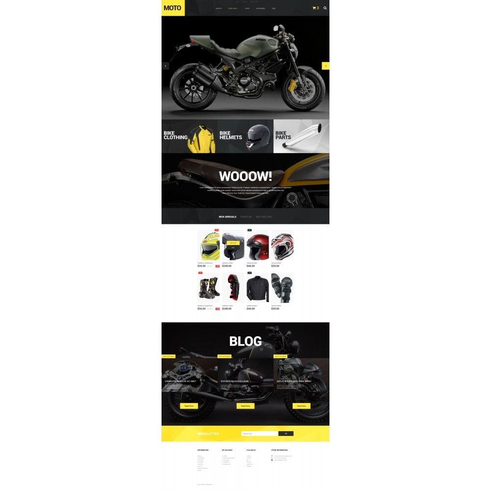 theme - Sport, Loisirs & Voyage - Motorcycle Store - 4