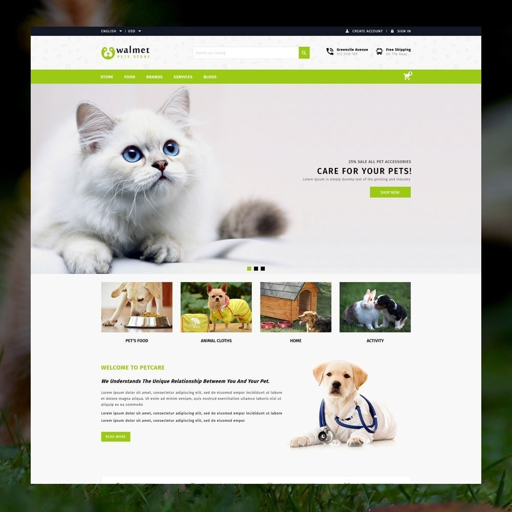 Walmet - Pets Store