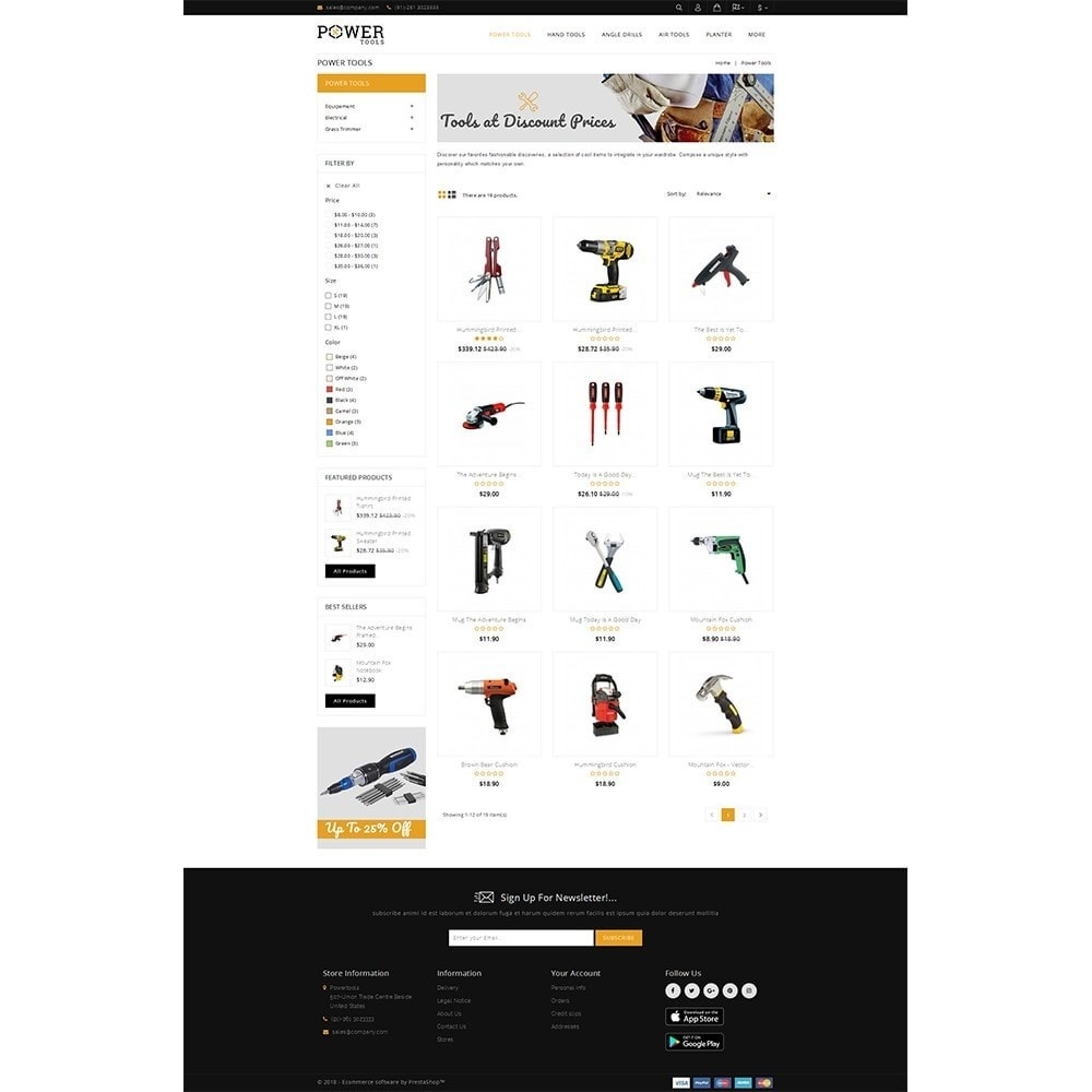 theme - Automotive & Cars - PowerTools Store - 3