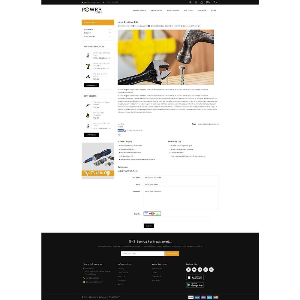 theme - Automotive & Cars - PowerTools Store - 6