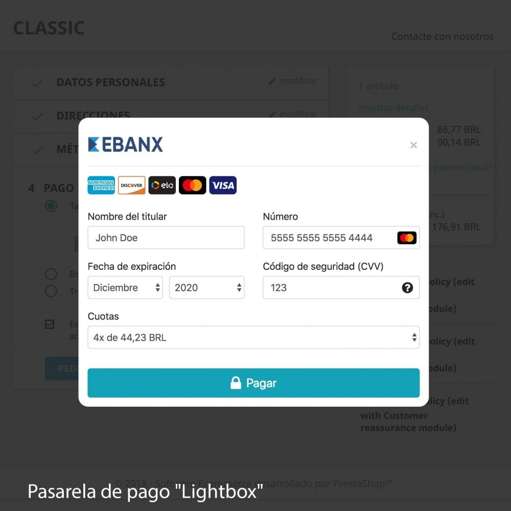 module - Payment by Card or Wallet - EBANX Plus - 8