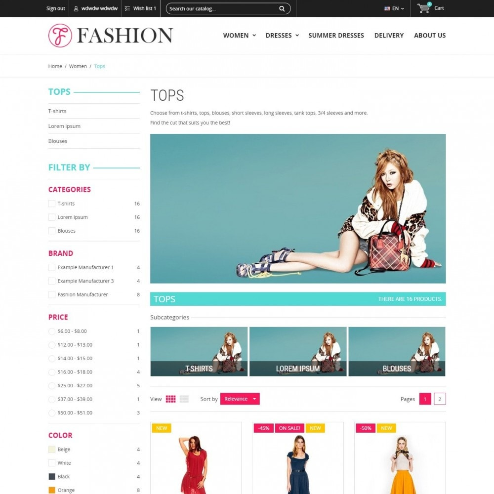 theme - Fashion & Shoes - Clothing - Fashion Store - 3
