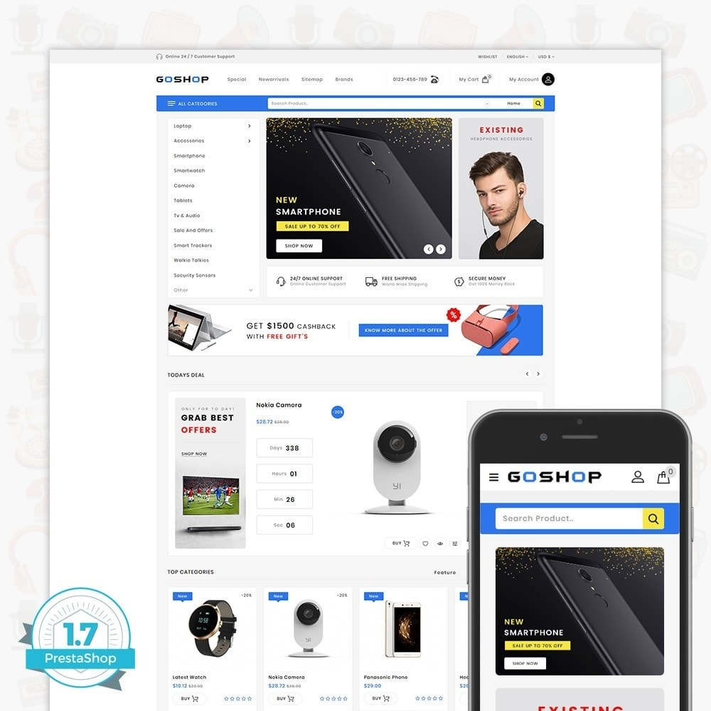theme - Eletrônicos & High Tech - GoShop - The Electronics Store - 1