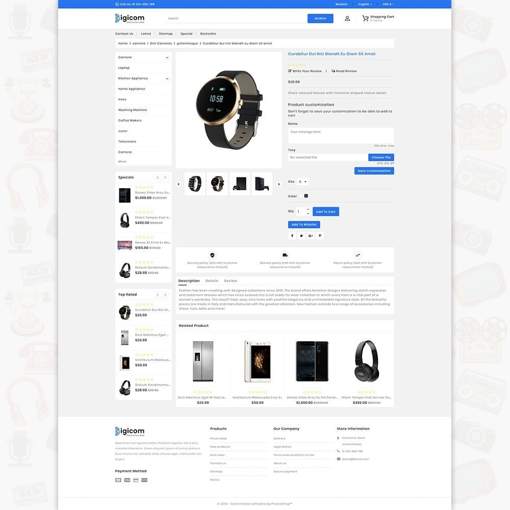 theme - Eletrônicos & High Tech - DIGICOM- The Large Ecommerce Store - 5