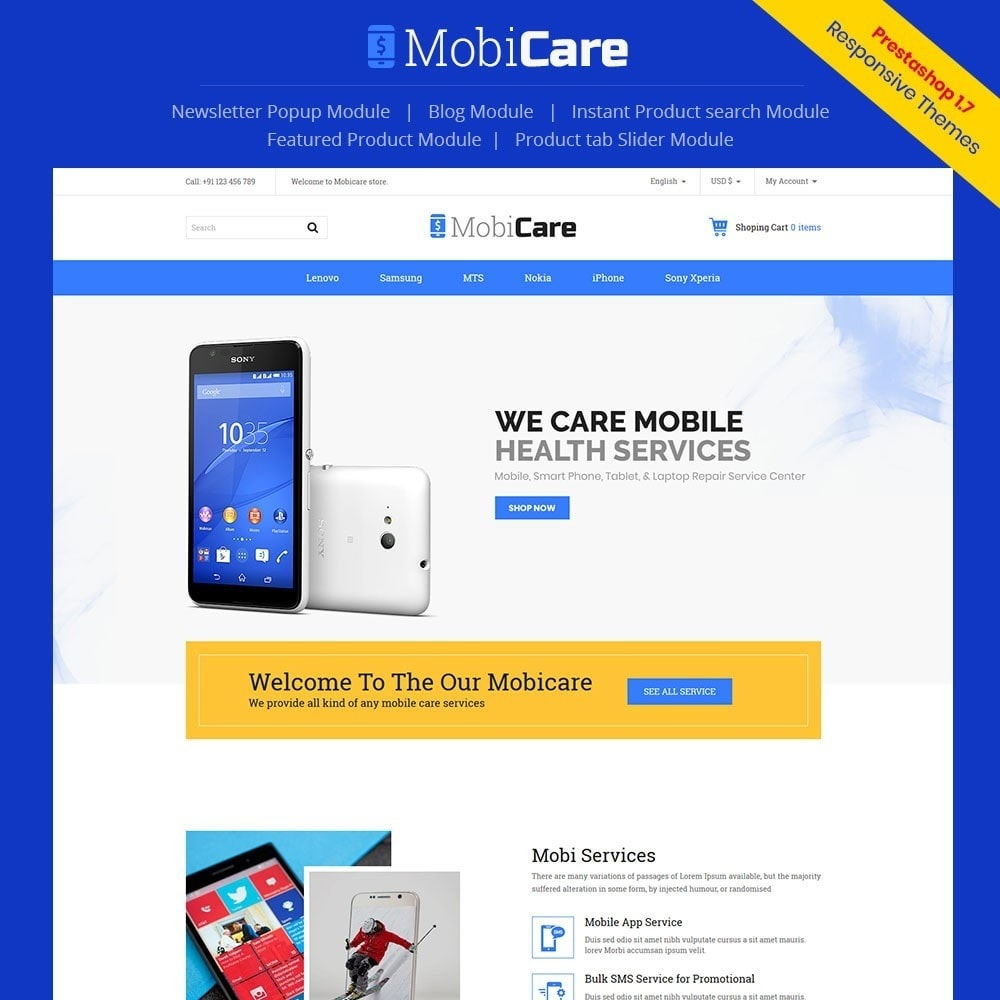 Mobicare - Electronics Store