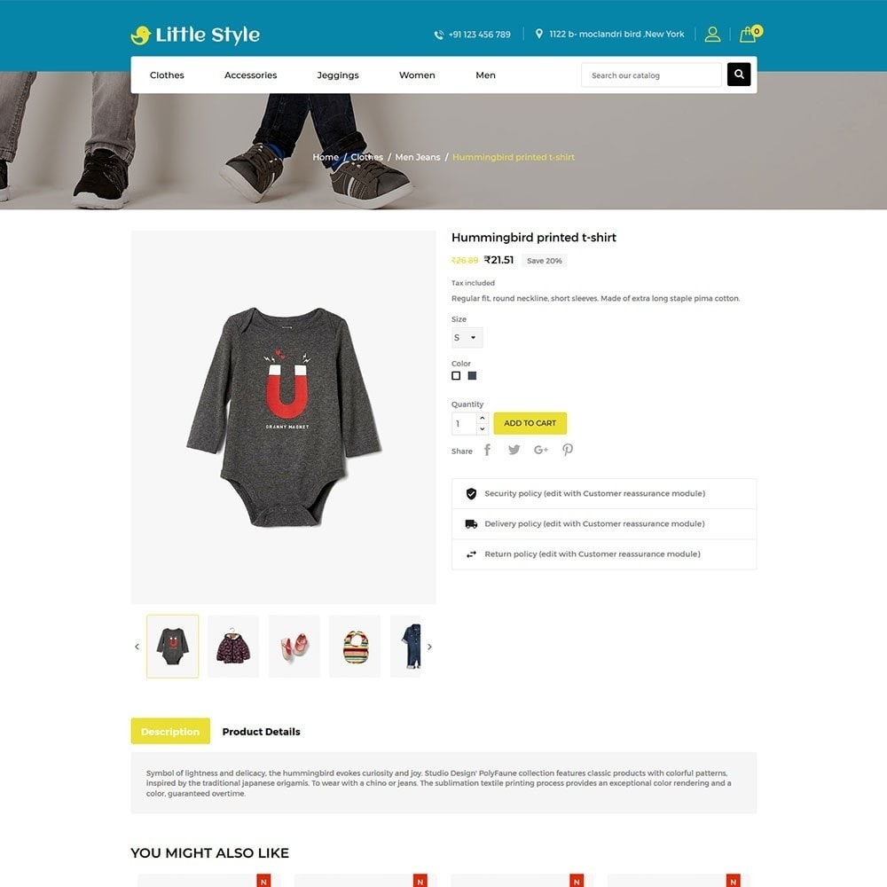 theme - Mode & Chaussures - Little Style Kids Store - 5