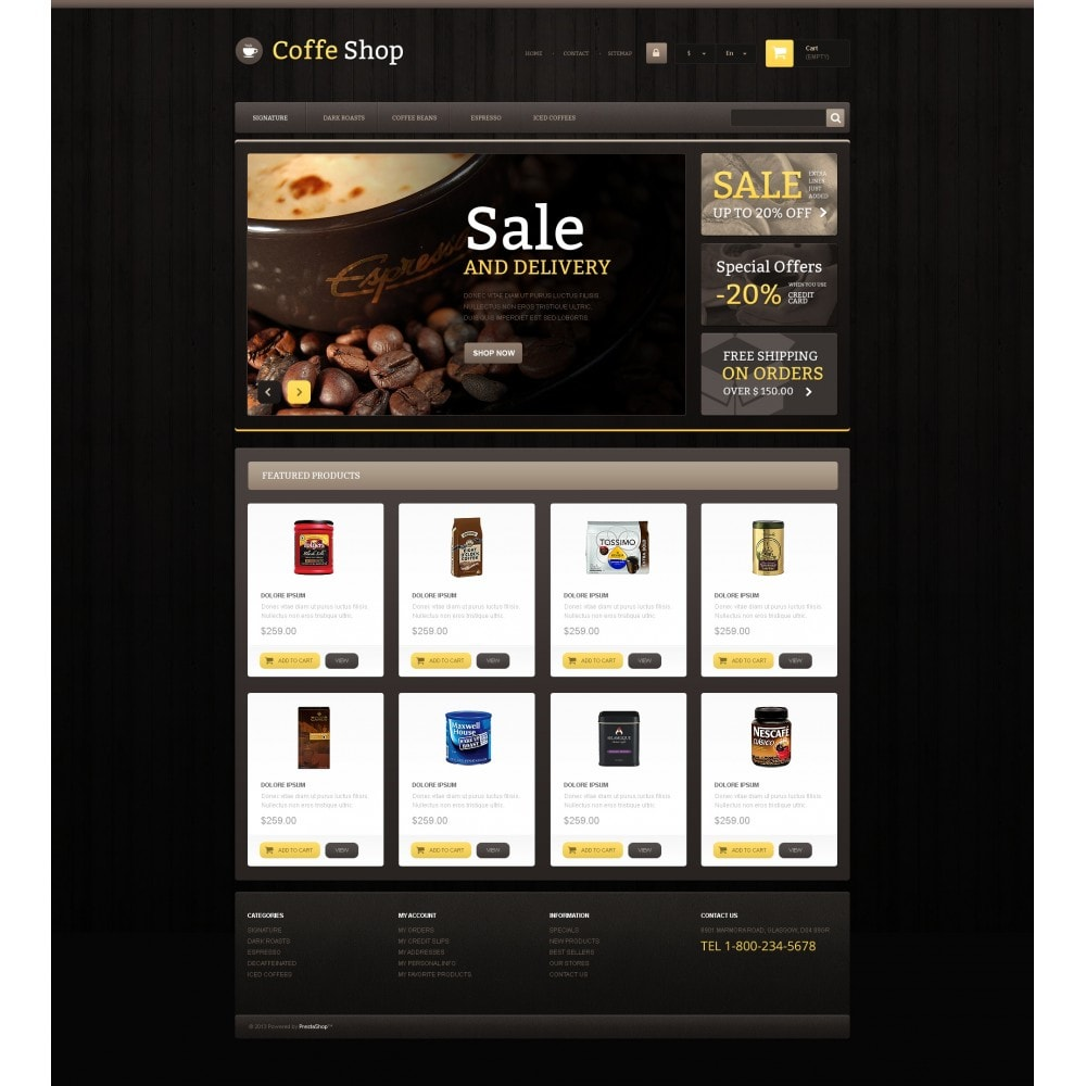 theme - Eten & Restaurant - Responsive Coffee Shop - 4