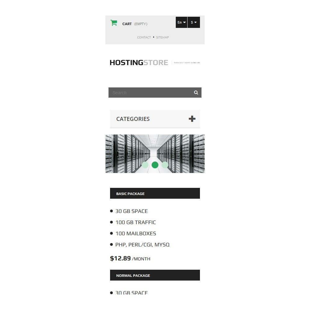 theme - Elektronika & High Tech - Hosting - 9