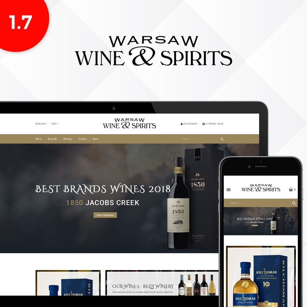 theme - Drink & Wine - Wine & Spirits Store - 1