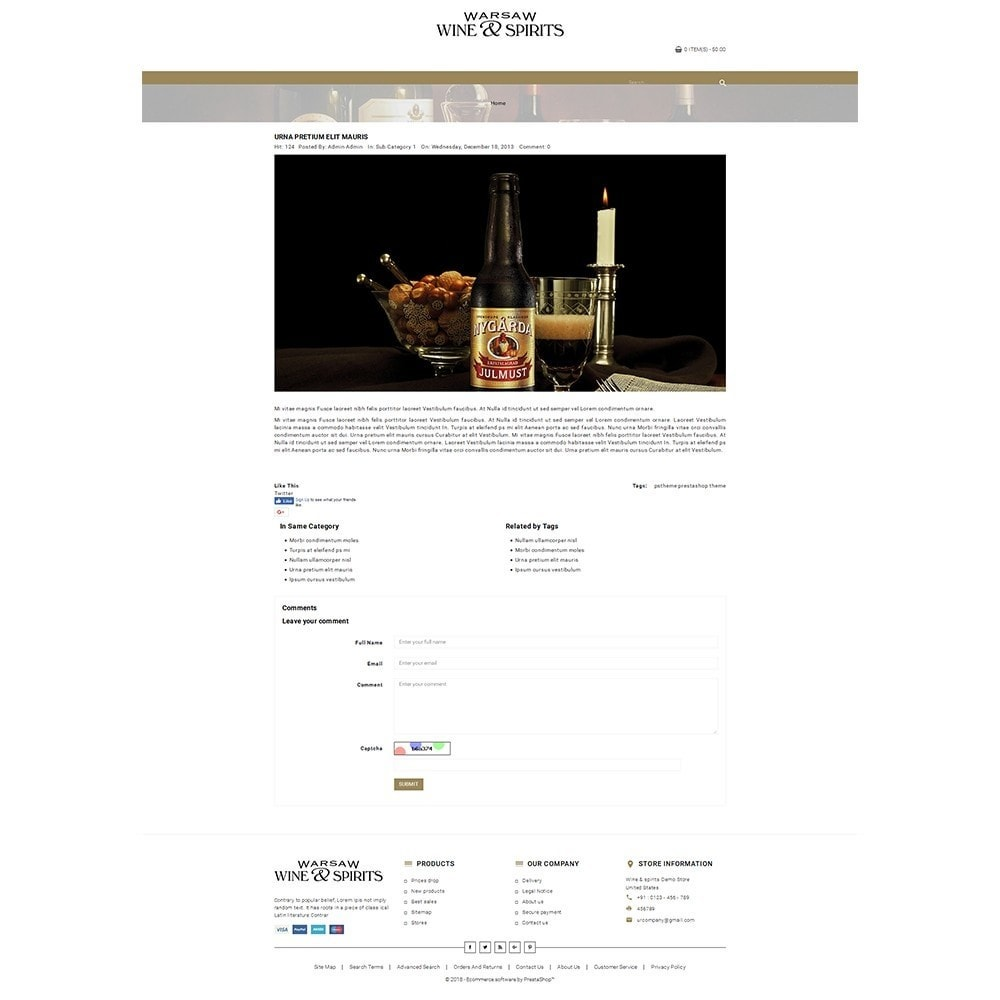 theme - Drink & Wine - Wine & Spirits Store - 6