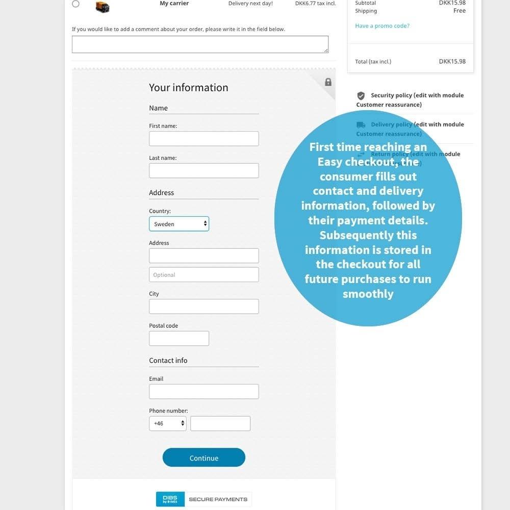 module - Paiement par Carte ou Wallet - DIBS Easy - 3