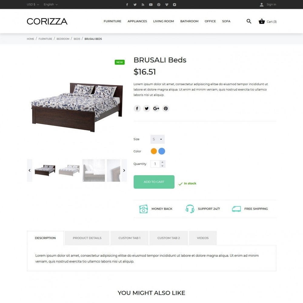 theme - Home & Garden - Corizza - 9