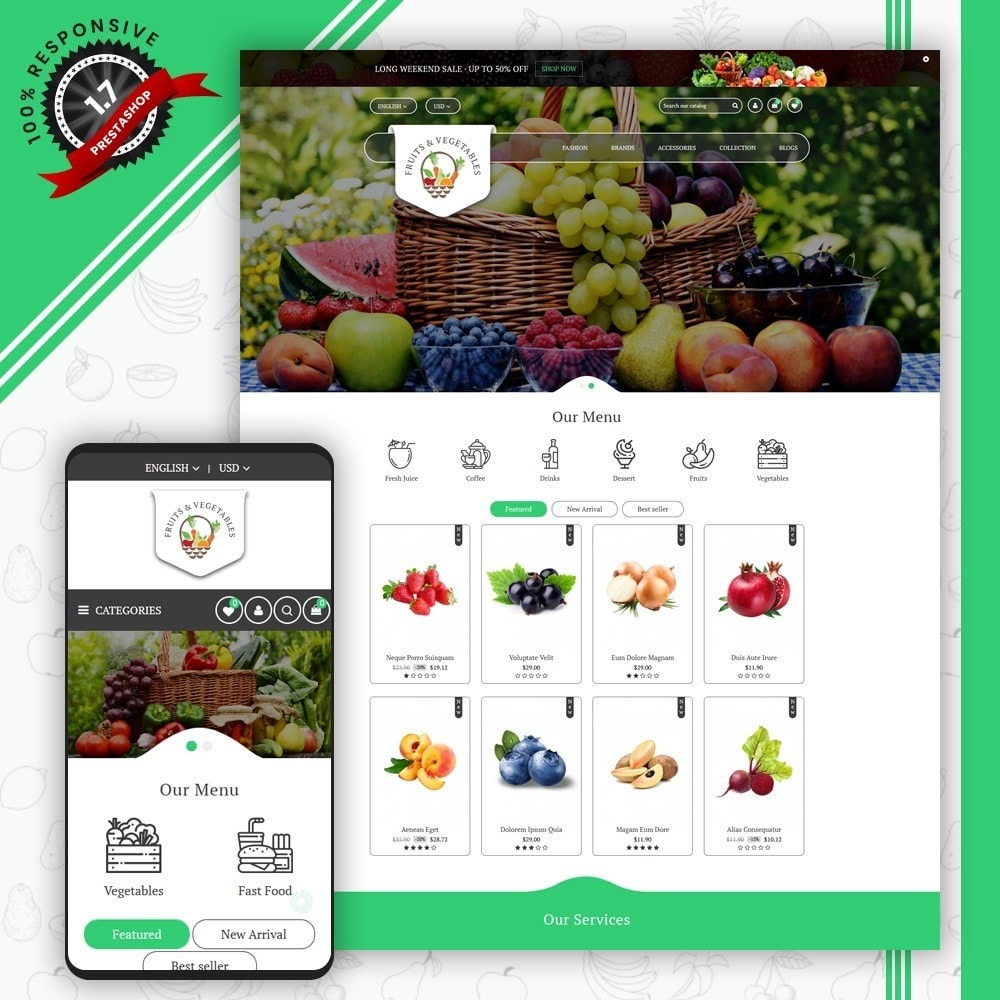 theme - Food & Restaurant - Fruits & Vegetables Store - 1