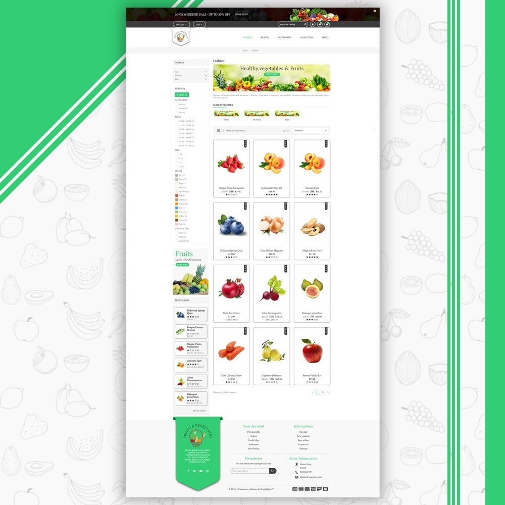 theme - Food & Restaurant - Fruits & Vegetables Store - 3