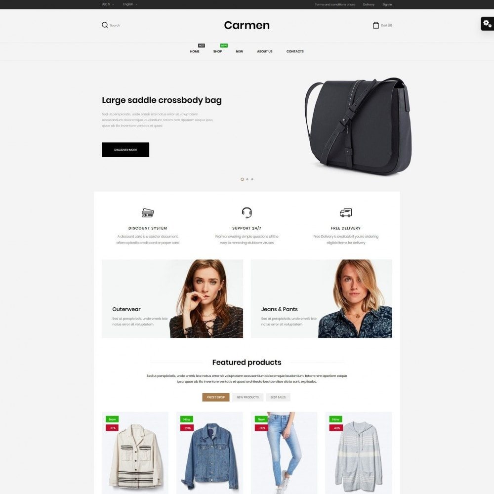 theme - Mode & Chaussures - Carmen Fashion Store - 2