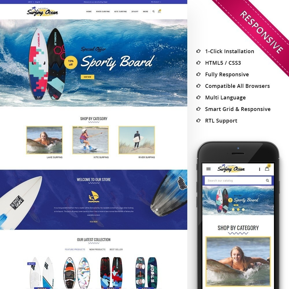 Surfing Ocean - The Sport Store