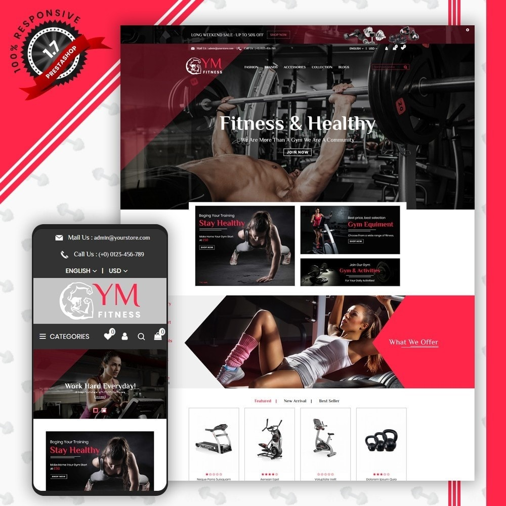 theme - Deportes, Actividades y Viajes - Gym Shop - 1