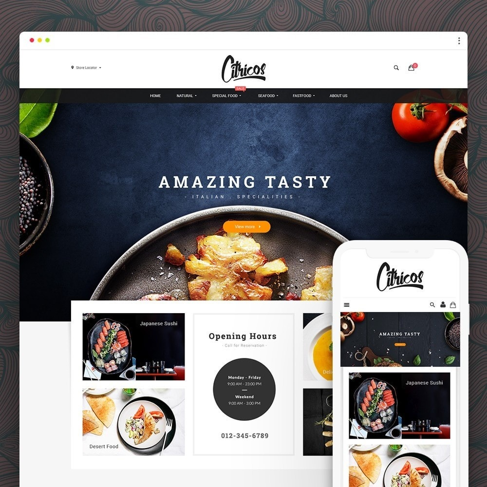 theme - Alimentation & Restauration - Citricos Food & Drink - 1