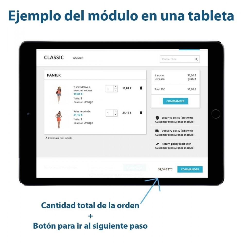 module - Inscripción y Proceso del pedido - Sticky Botón en el Carrito - 3