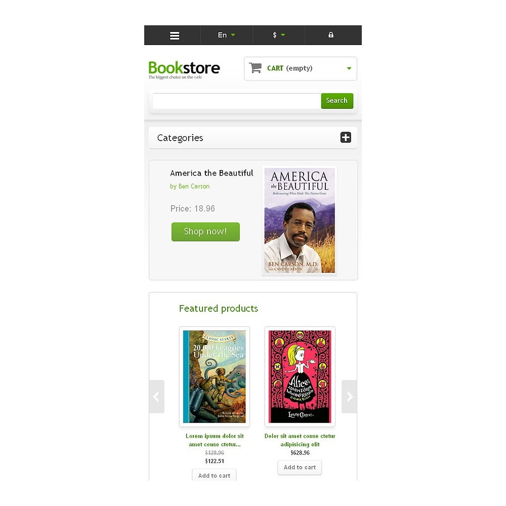theme - Art & Culture - Responsive Books Store - 8