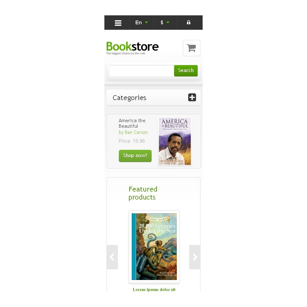 theme - Art & Culture - Responsive Books Store - 9