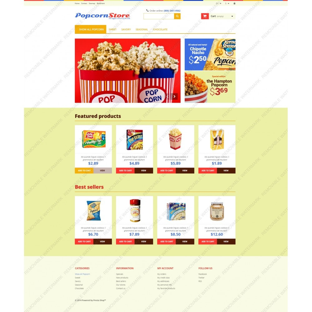 theme - Lebensmittel & Restaurants - Salt  Sweet Popcorn - 5