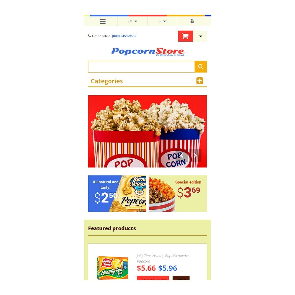 theme - Lebensmittel & Restaurants - Salt  Sweet Popcorn - 8