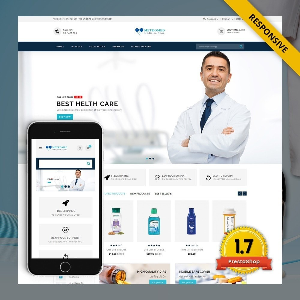 theme - Salud y Belleza - Metromed - The Medicine Shop - 1