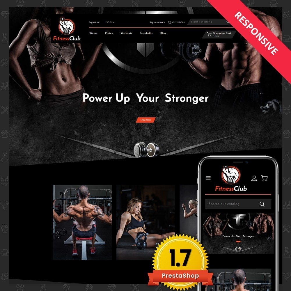 theme - Sports, Activities & Travel - Fitness Club Online Store - 1