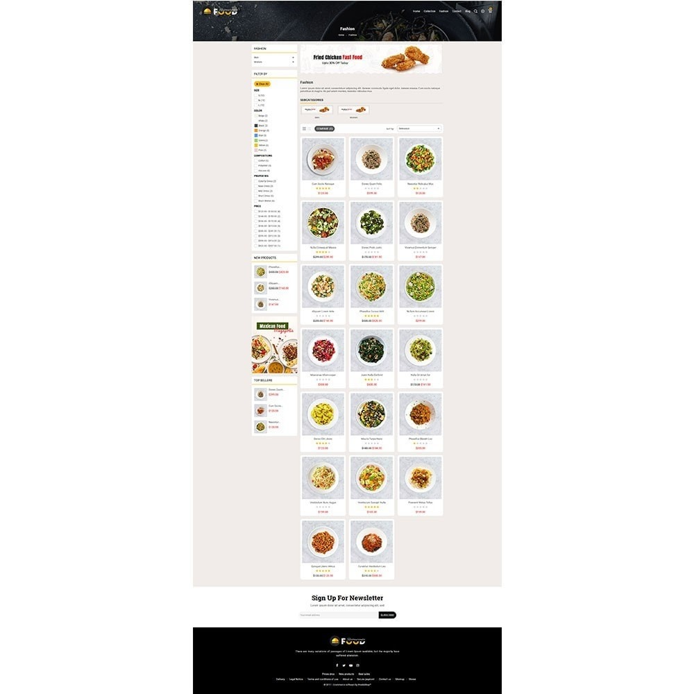theme - Alimentos & Restaurantes - Restro Food Store - 3