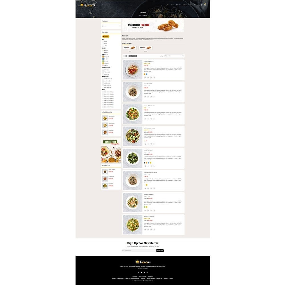 theme - Alimentos & Restaurantes - Restro Food Store - 4