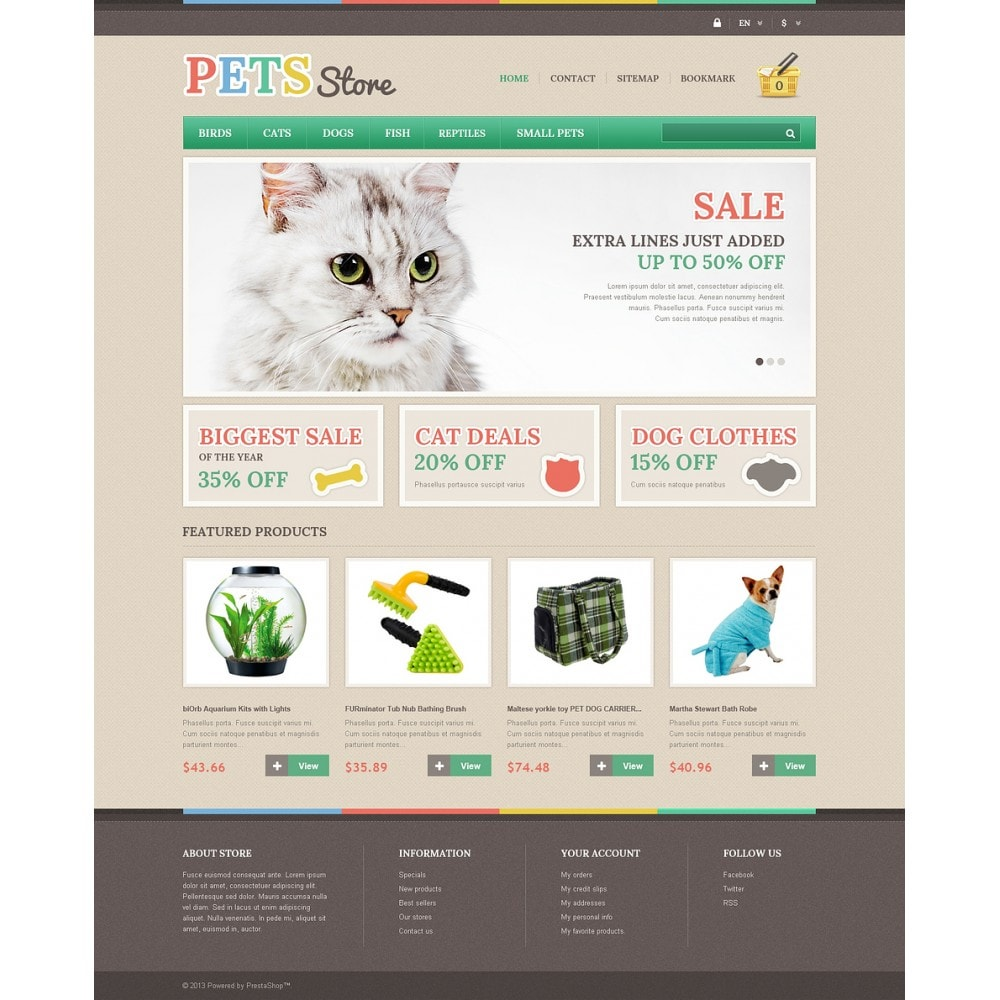 theme - Animaux - Responsive Pets Store - 2