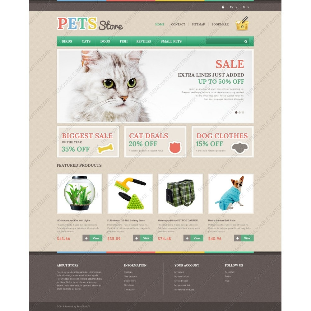Responsive Pets Store