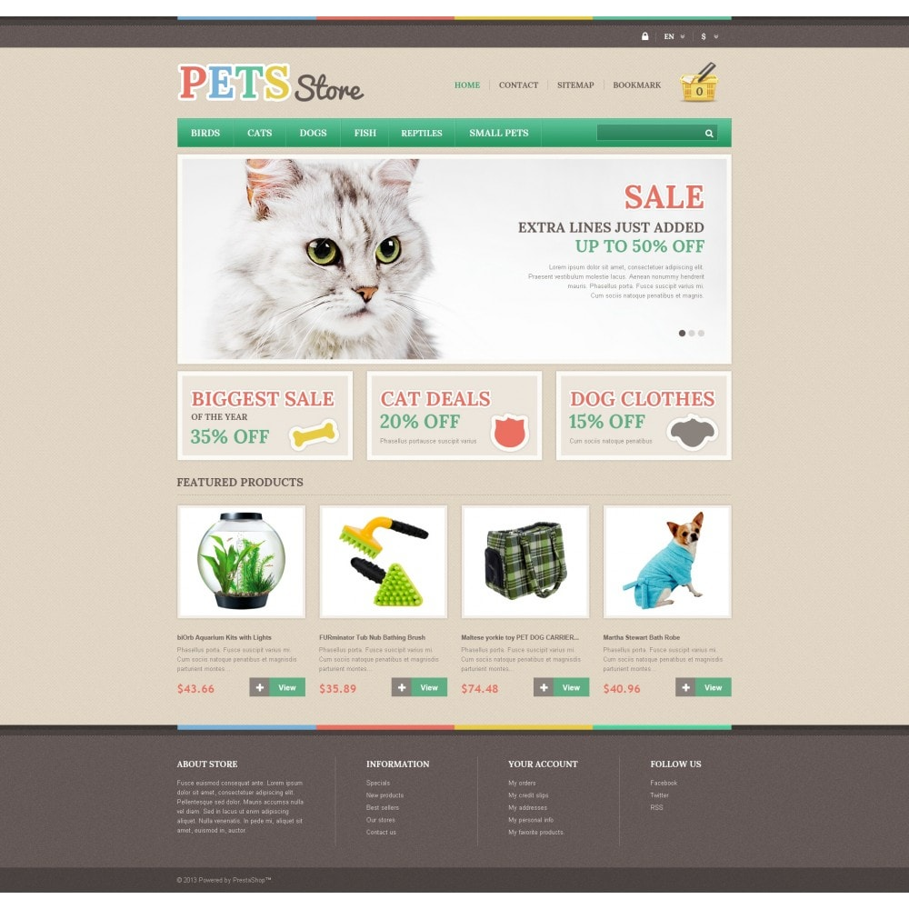 theme - Animaux - Responsive Pets Store - 4