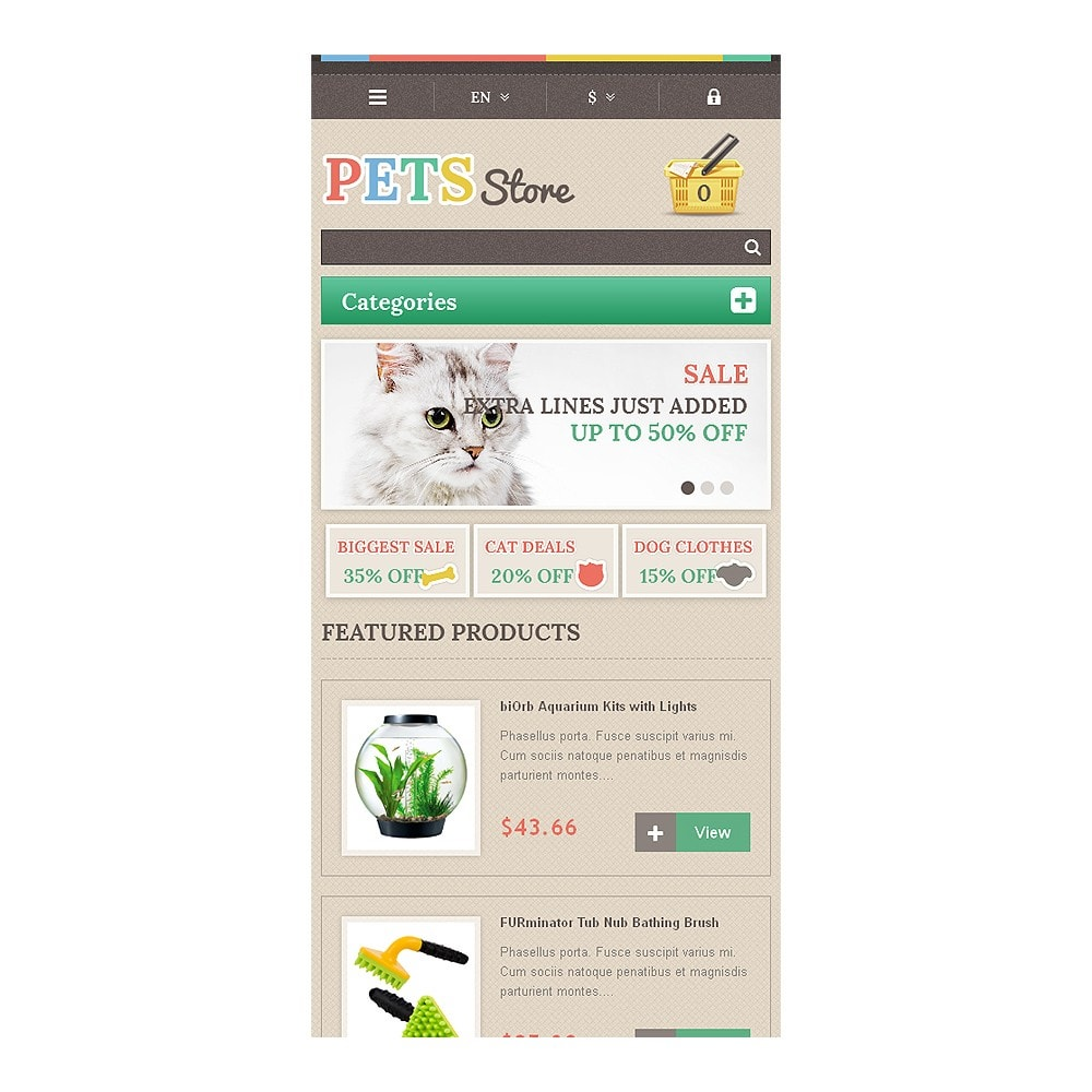 theme - Animaux - Responsive Pets Store - 8
