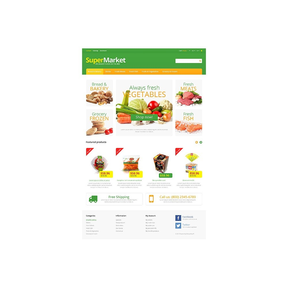 theme - Продовольствие и рестораны - Responsive Supermarket - 10