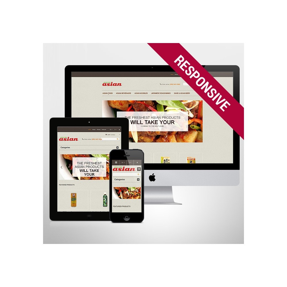 theme - Food & Restaurant - Asian Grocery - 1