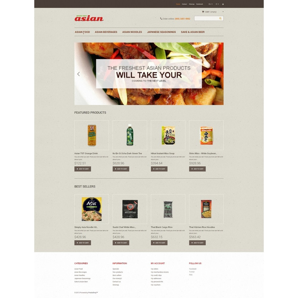 theme - Food & Restaurant - Asian Grocery - 2