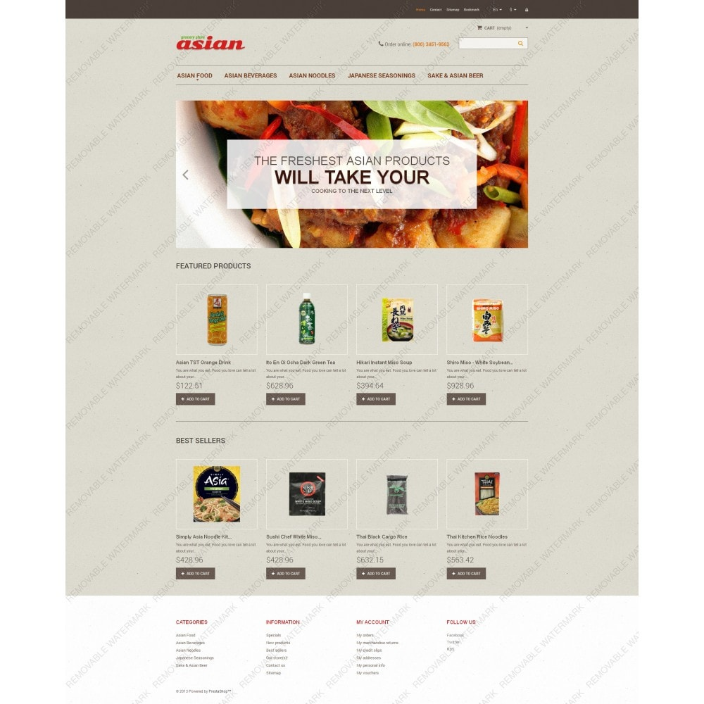 theme - Food & Restaurant - Asian Grocery - 5
