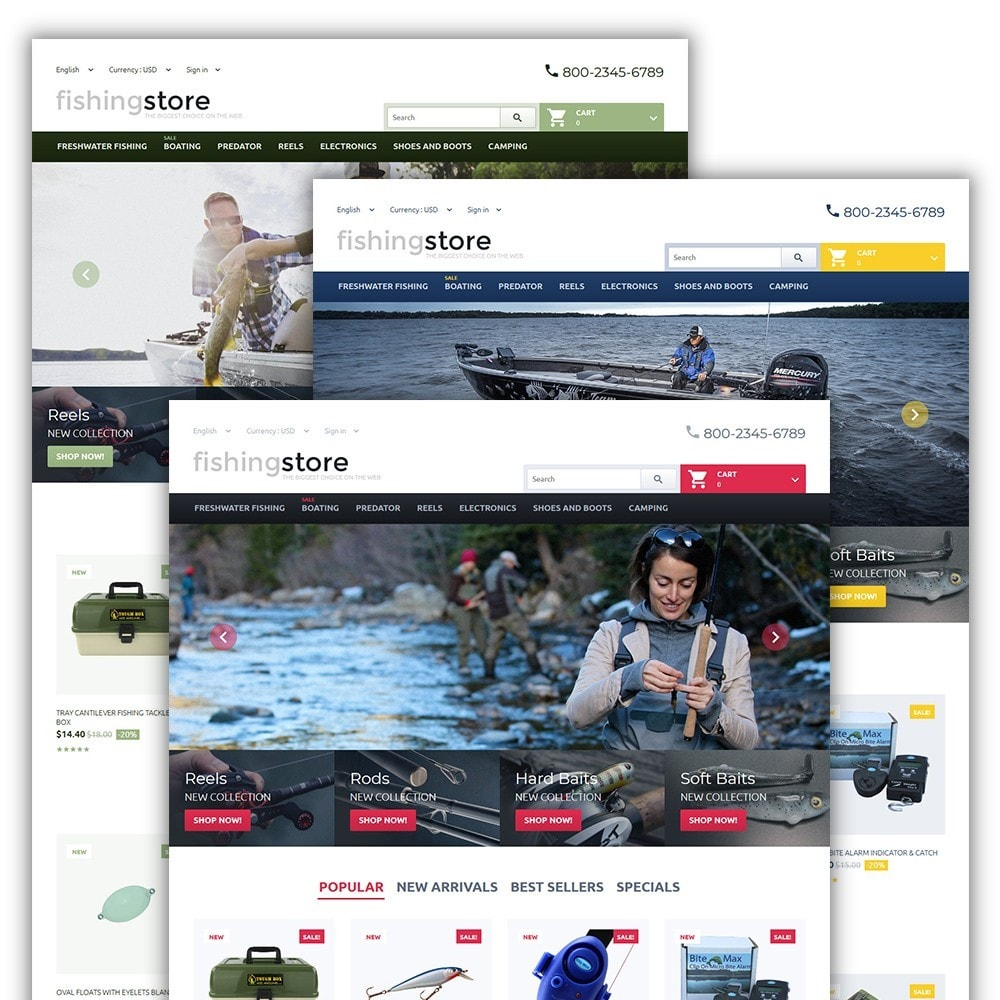 theme - Sport, Activiteiten & Reizen - Fishing Store - The Biggest Choice On The Web - 2