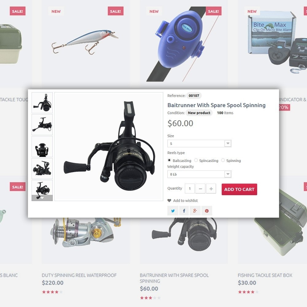 theme - Sport, Rozrywka & Podróże - Fishing Store - The Biggest Choice On The Web - 5