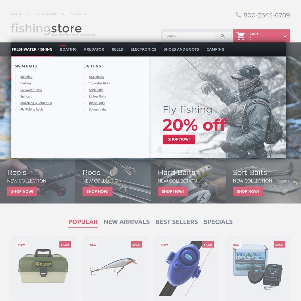 theme - Sport, Loisirs & Voyage - Fishing Store - The Biggest Choice On The Web - 4
