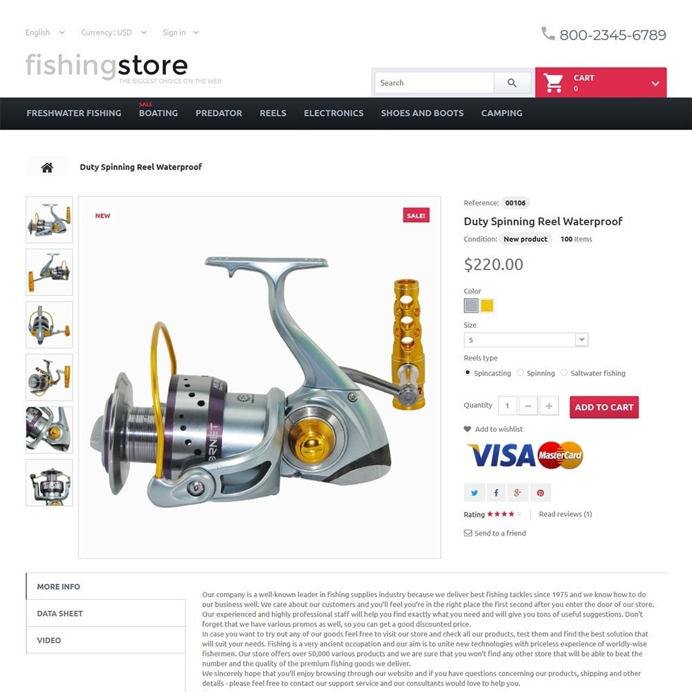 Fishing Store - The Biggest Choice On The Web