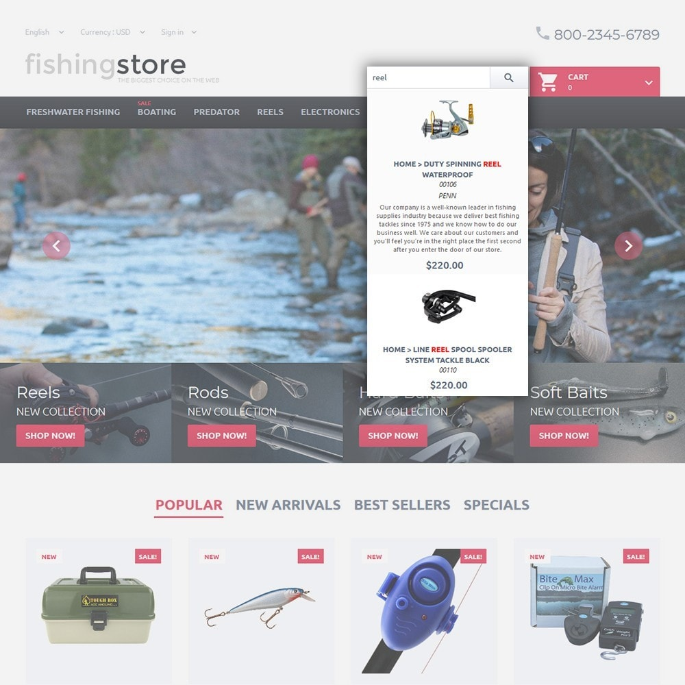 theme - Sport, Attività & Viaggi - Fishing Store - The Biggest Choice On The Web - 6