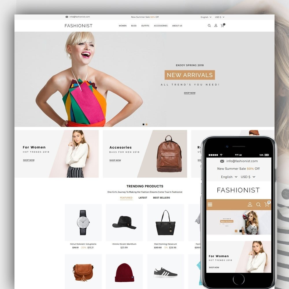 theme - Mode & Schuhe - Fashionist Fashion Store - 1