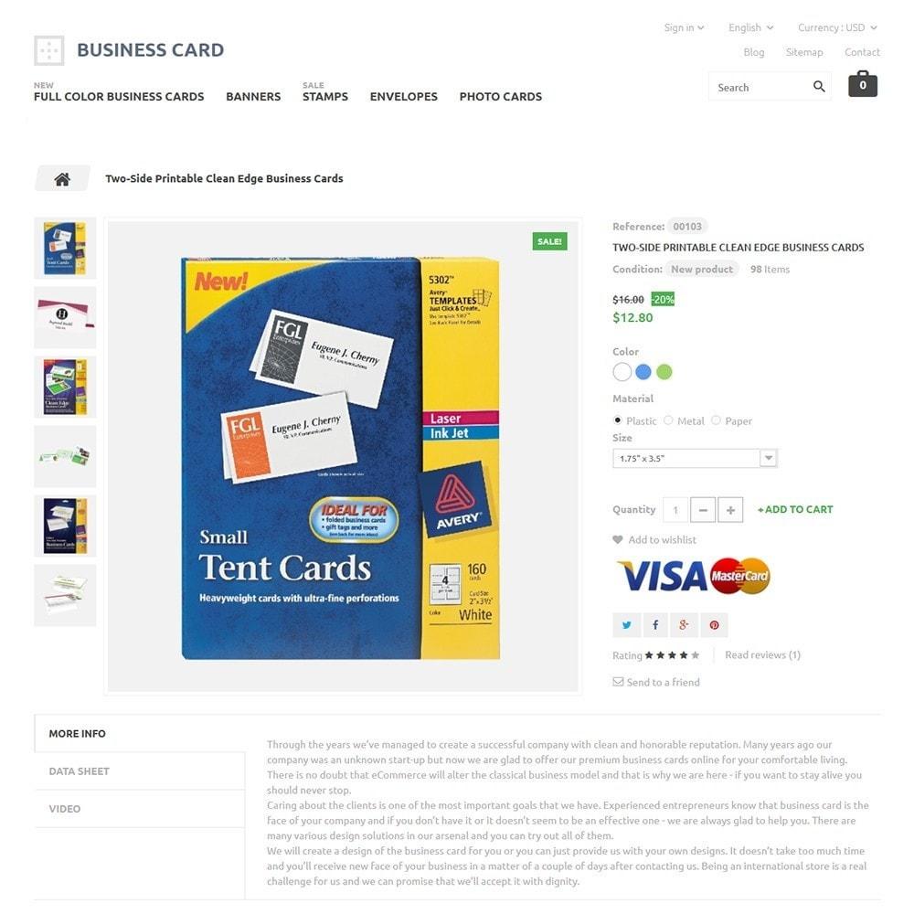 theme - Hogar y Jardín - Business Card - 3