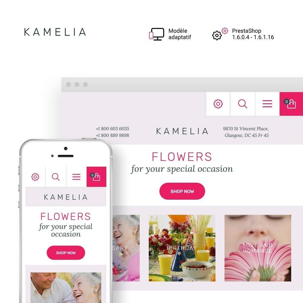 theme - Cadeaux, Fleurs et Fêtes - Kamelia - 1