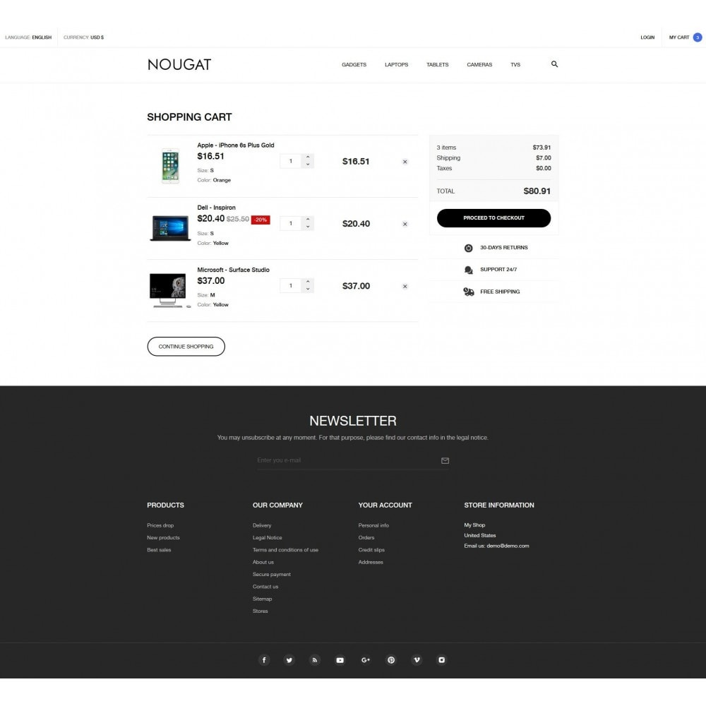 theme - Elektronica & High Tech - Nougat - High-tech Shop - 9